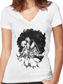 Black Desert Online Women's Fitted V-Neck T-Shirt