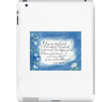 You are the Finest F. Scott Fitzgerald quote calligraphy art iPad Case/Skin