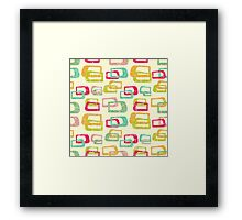 retro colorful abstract pattern Framed Print