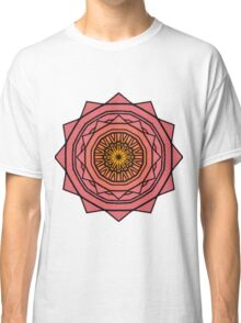 Sunny Kaleidoscope in Pink and Yellow Classic T-Shirt