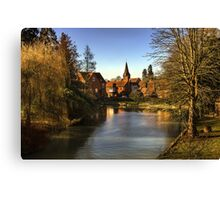 Whitchurch on Thames Mill and Church  Canvas Print