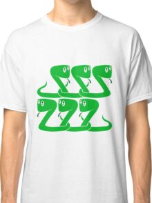 child 6 friends team crew party funny little cute sweet baby snake Classic T-Shirt