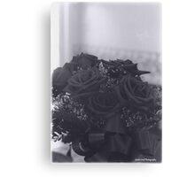 A Dozen Roses - Black and White Canvas Print
