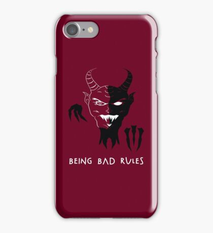 Being Bad Rules [RED] iPhone Case/Skin