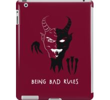Being Bad Rules [RED] iPad Case/Skin