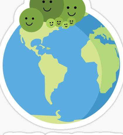 Peas on Earth Sticker