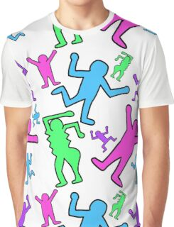 Keith Haring Inspired Pop Art Pattern Graphic T-Shirt