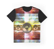 Audio speakers and party lights Graphic T-Shirt