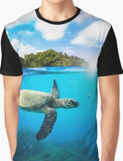 Tropical Paradise Graphic T-Shirt