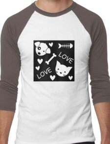 I love my pet Men's Baseball ¾ T-Shirt