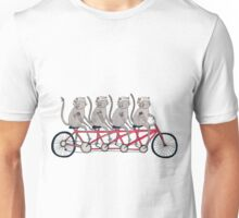 Tandem Bicycle Cat Gang Unisex T-Shirt