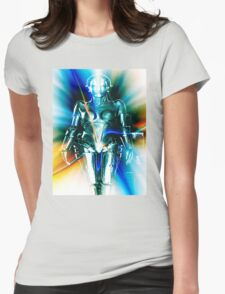 Star Light Robot Womens Fitted T-Shirt
