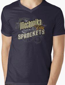 Mechanika City Sprokets Mens V-Neck T-Shirt