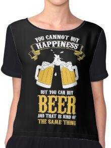 Beer and Happiness Chiffon Top