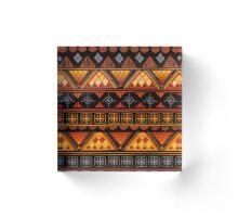 Boho Geometric Pattern Acrylic Block
