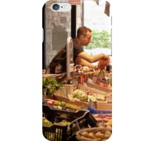 Shopping for Vegetables at the Covered Market in Vannes France iPhone Case/Skin