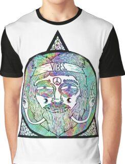 Trippy Psychedelic Hippie Design Graphic T-Shirt