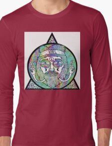 Trippy Psychedelic Hippie Design Long Sleeve T-Shirt