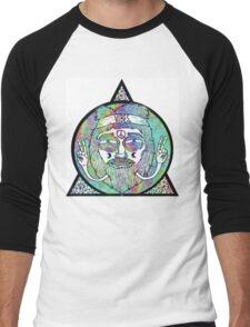 Trippy Psychedelic Hippie Design Men's Baseball ¾ T-Shirt