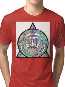 Trippy Psychedelic Hippie Design Tri-blend T-Shirt