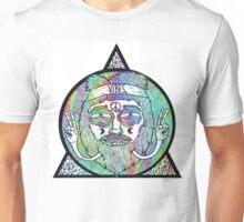 Trippy Psychedelic Hippie Design Unisex T-Shirt