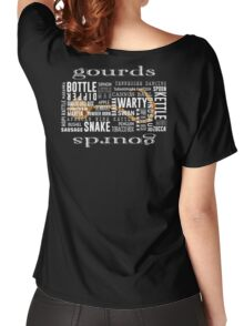 Gourd Typography Black Letters by Chris Peters Women's Relaxed Fit T-Shirt