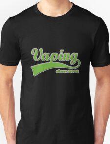Vape Design Swoosh Vaping Since 2012 Unisex T-Shirt