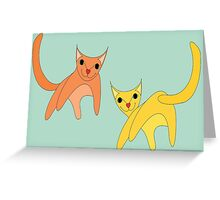 Jumpy Cats Greeting Card