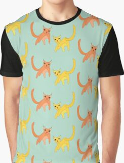Jumpy Cats Graphic T-Shirt