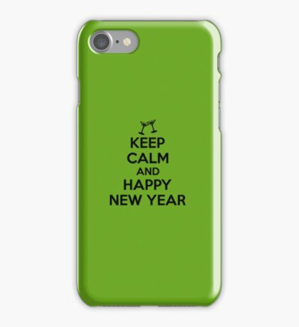 Keep calm and Happy new year iPhone Case/Skin