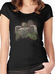 Camper Robot Graffiti Women's Fitted Scoop T-Shirt