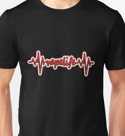 Vape Design Vapelife HeartBeat Red Unisex T-Shirt