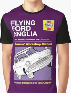 Haynes Manual - Flying Ford Anglia - T-shirt Graphic T-Shirt