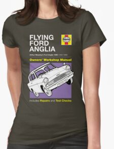 Haynes Manual - Flying Ford Anglia - T-shirt Womens Fitted T-Shirt