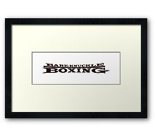 Bareknuckle Boxing iPhone / Samsung Galaxy Case Framed Print