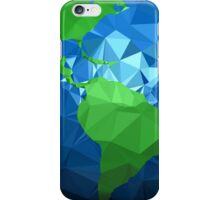 Low poly earth iPhone Case/Skin
