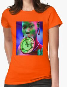 The illusion of Time Womens Fitted T-Shirt