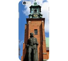 Statue of Boleslaw I the Brave outside the Gniezno Cathedral Poland iPhone Case/Skin