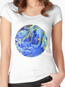 Landscape Abstract Women's Fitted Scoop T-Shirt