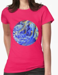 Landscape Abstract Womens Fitted T-Shirt
