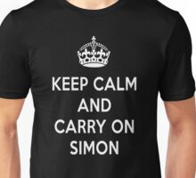 Keep Calm and Carry on Simon Unisex T-Shirt
