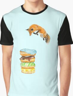 Donut Foxhole (Transparent Background) Graphic T-Shirt