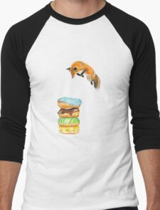 Donut Foxhole (Transparent Background) Men's Baseball ¾ T-Shirt