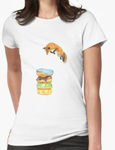 Donut Foxhole (Transparent Background) Womens Fitted T-Shirt