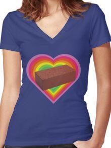 My Lovely Brick Women's Fitted V-Neck T-Shirt
