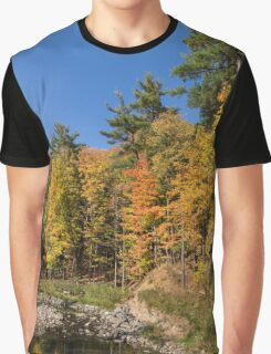 Autumn on the Riverbank - the Changing Forest Graphic T-Shirt