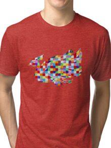 Swan Mural Tri-blend T-Shirt