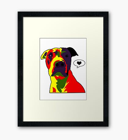 Murphy Loves You ♡ Framed Print