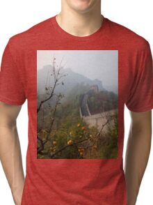 Harvest Time at The Great Wall of China Tri-blend T-Shirt