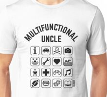 Multifunctional Uncle (16 Icons) Unisex T-Shirt